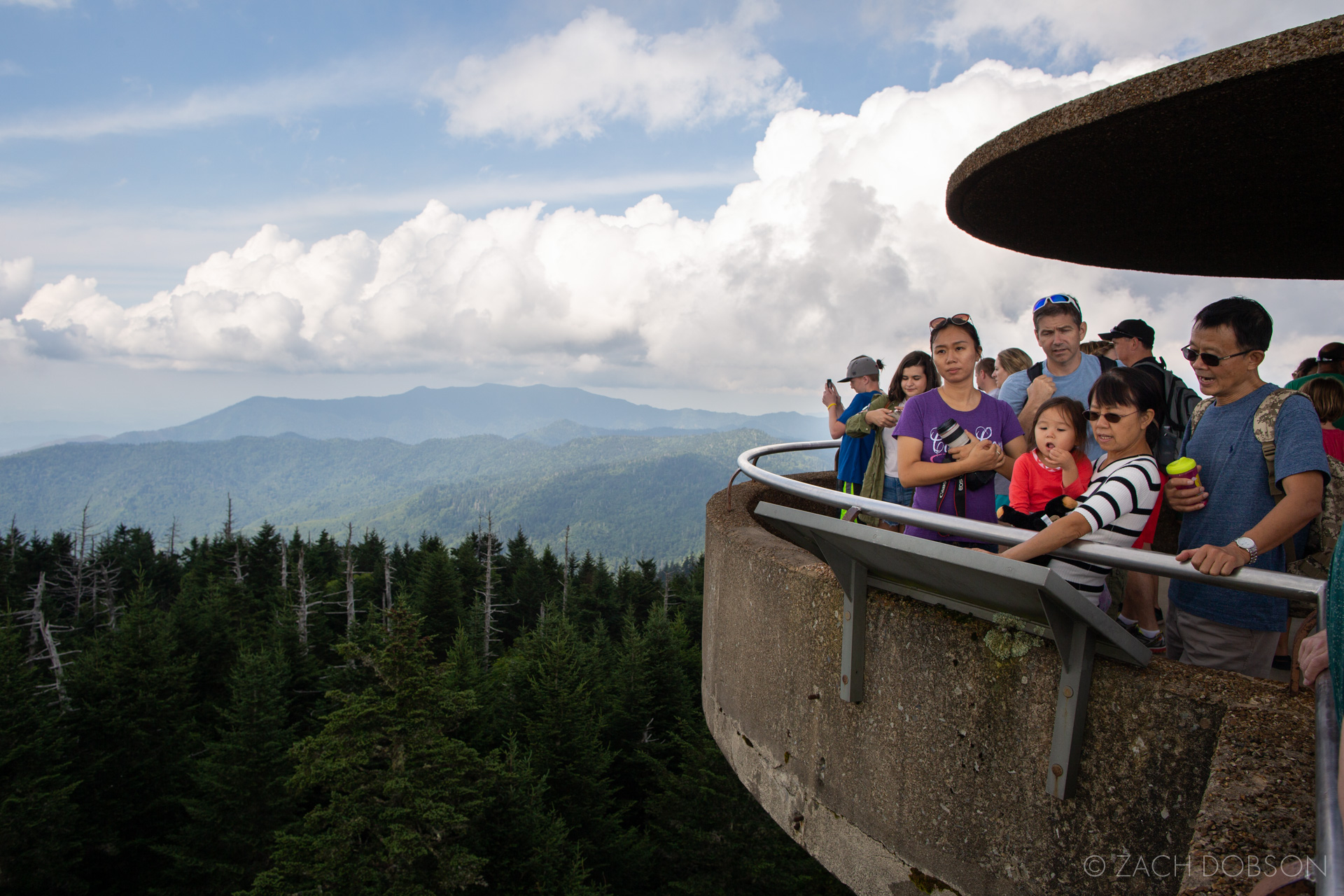 Great Smoky Mountains National Park Clingman's Dome sky view