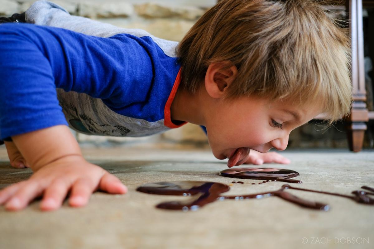 chocolate syrup art toddler carmel indiana