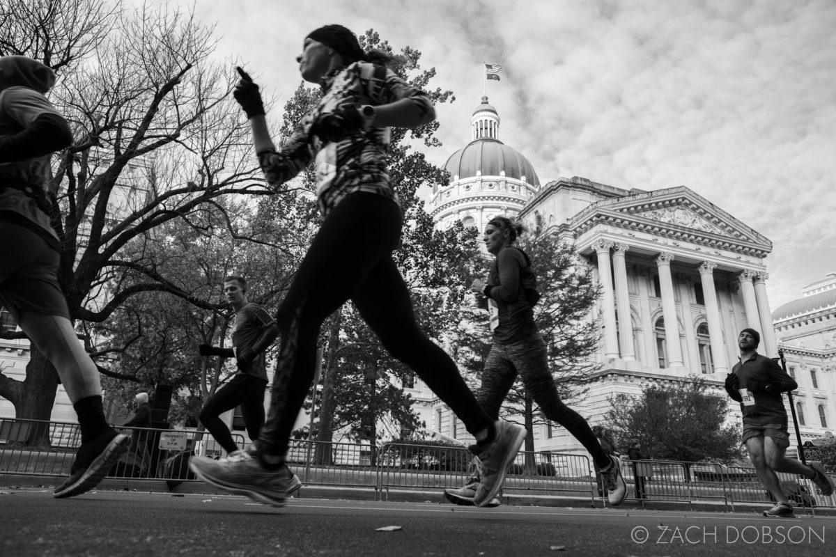 Indianapolis Monumental Marathon, 2019. Statehouse, capitol
