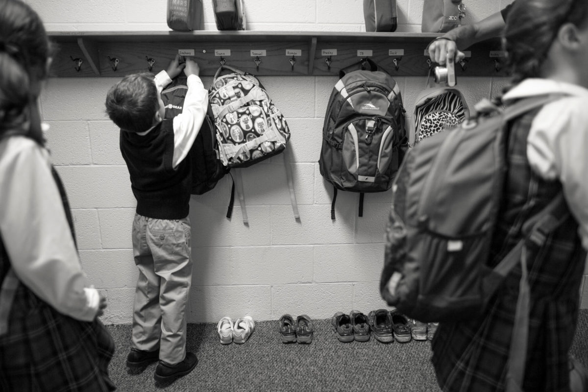 first day of school backpack